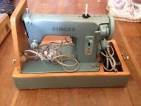 singer sewing machine vintage turquoise