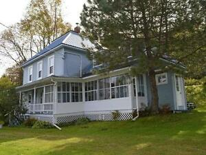 1890's FARMHOUSE FOR SALE w/ 10 acres + Barn + Garage + Views