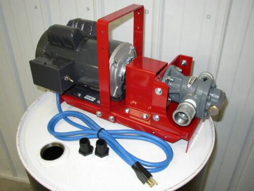 "New Gear Lube Oil Pump,3/4 HP,1"" Gear Head,16 GPM, for Bulk Oil, Waste Oil,110 V"