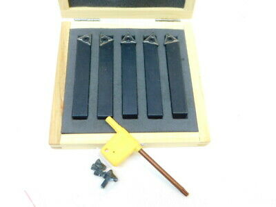 New Meda 5pc Turning Tool Set Indexable Carbide 12 Shank Tcmt 6190080