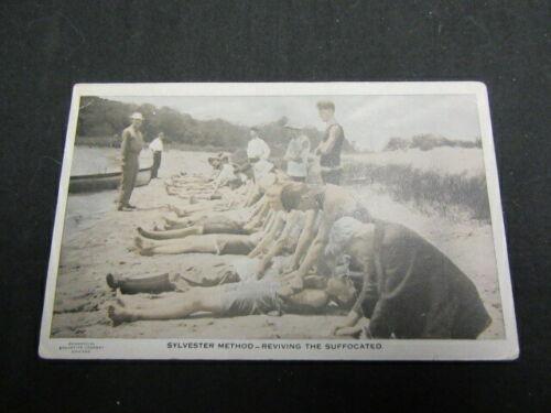 Sylvester Method--Reviving the Suffocated, BSA Vintage Postcard   c85