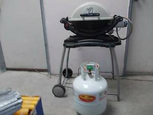 WEBER BABY Q *with high roasting lid & electronic ignition. Sydenham Marrickville Area Preview