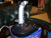 pc line usb joystick 3 fire buttons, throttle control, trigger, great stick as new hardly used.