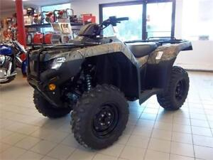 2017 Honda TRX420 RANCHER DCT IRS EPS CAMO  SAVE $500  $33 WEEKL
