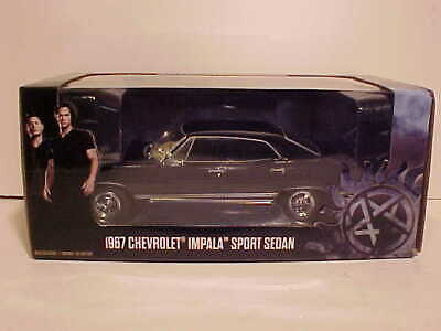 SUPERNATURAL 1967 Chevy Impala Sport Diecast Car 1:24 Greenlight 8 inch Black