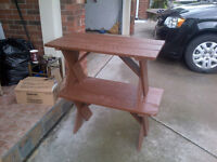 2 WOOD BENCHES