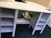 3x Ikea white desks