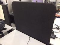 Small IKEA Bekant desk partition - black