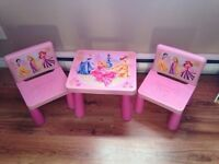 Disney Princesses tea table and chairs