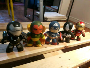 Mighty Muggs Collectables: Capt America, Iron Man, Vision...