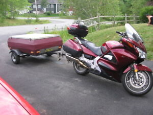 Motorcycle/small car tow behind utility trailer