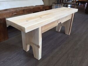 HANDCRAFTED CEDAR BENCH GREY BASE - GORGEOUS!! Kitchener / Waterloo Kitchener Area image 3