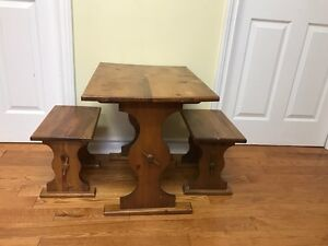 Toddler size wood table and chair set