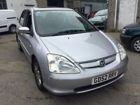 2003 Honda Civic automatic, starts and drives well, MOT until March 2017, leather interior, car loca