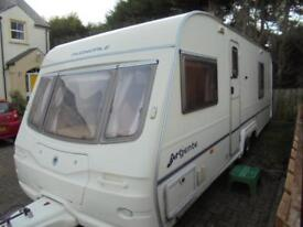 2003 Avondale Argente 642 4 Berth Caravan For Sale.Fixed Bed.End Washroom