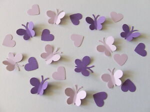 100-BUTTERFLY-HEART-WEDDING-TABLE-SPRINKLES-CONFETTI-DECORATION-LILAC-PURPLE