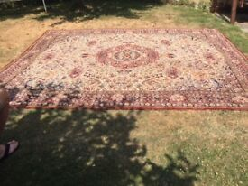 "Old ""Axminster square"" carpet."
