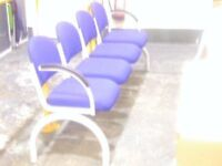 Waiting room / office chairs - 4 in row