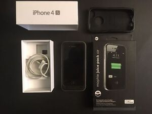 iPhone 4S Noir 16 GB Telus avec accessoires