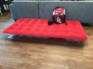 Aerobed single air mattress with pump and backpack Coogee Eastern Suburbs Preview
