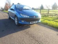 Peugeot 206 2.0 16v 2001 Cabriolet SE SPARES REPAIR ROOF NOT WORKING