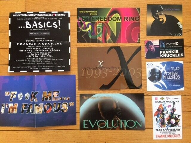 Frankie Knuckles Chicago Club Rave Party Flyers