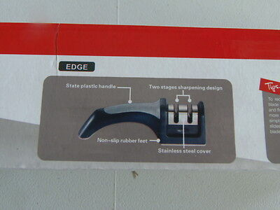 - NEW Handheld Manual 2 Step Stainless Steel Kitchen Knife Sharpener   (PM-3)
