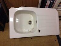 Large ceramic sink - broken corners