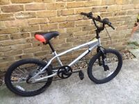 "BMX BIKE SILVER WITH 20"" WHEELS"