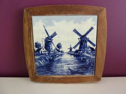 Delft tile in wooden frame Bedford Bayswater Area Preview
