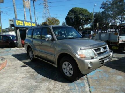 2003 Mitsubishi Pajero NP Exceed LWB (4x4) Gold 5 Speed Auto Sports Mode Wagon Homebush West Strathfield Area Preview