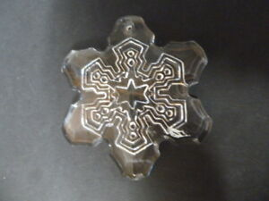 WATERFORD CRYSTAL MARQUIS SNOWFLAKE CHRISTMAS DECORATIONS