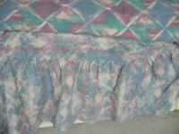 single fitted frilled bottom valance sheet with matching duvet cover - bh5