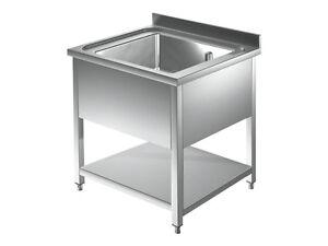 Lavatoio lavello lavandino vasca e ripiano in acciaio for Lavandino acciaio inox