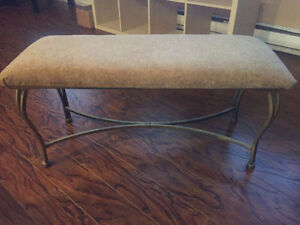 Selling great condition beige bench