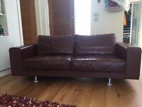 bo concept leather sofa