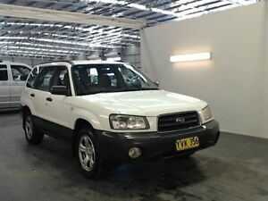 2003 Subaru Forester MY03 X White 5 Speed Manual Wagon Beresfield Newcastle Area Preview