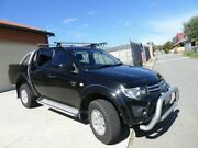 2010 Mitsubishi Triton MN MY11 GL-R Double Cab Black 4 Speed Automatic Utility Mount Lawley Stirling Area Preview