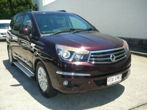 2015 Ssangyong Stavic A100 MY13 SPR Wine Black 5 Speed Automatic Wagon Rothwell Redcliffe Area Preview