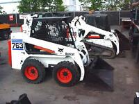 BOBCAT SKID-STEER RENTALS / VARIETY OF ATTACHMENTS OUR OPERATOR
