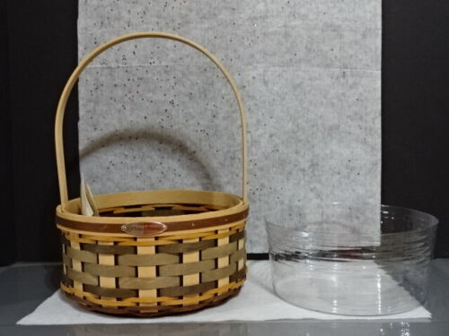 2015 LONGABERGER WOVEN MEMORIES BASKET TOUR PROTECTOR EXTREMELY RARE EASTER NEW!