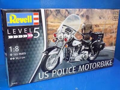 Revell 1/8 07915 US Harley Davidson Electra Glide Police Motorbike Model Kit