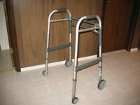 Adult aluminum walker, with 4 wheels