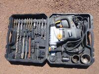 1500w sds drill + accessory kit + core drill set