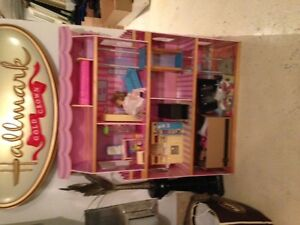Barbie Doll House with some furniture