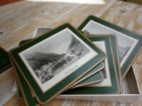 Traditional Table Mats with Northern Irish scenes