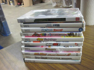 10 WII GAMES ONE LOW PRICE USED BUT TESTED A+