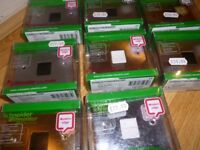 Schneider BT Secondary Telephone Socket x 8 JOBLOT. Brand new in packaging