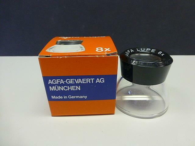 Vintage MINT AGFA LUPE 8x Magnifier 6610 /100 Brand New Professional Film Lupe