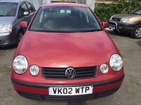 2002 Volkswagen Polo, starts and drives well, trade sale due to no MOT and the passenger doors do no
